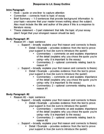 Five paragraph essay structure guidelines for child